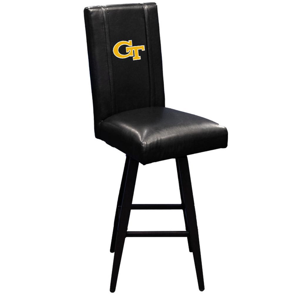 Georgia Tech Yellow Jackets Bar Stool Swivel 2000 |  Dreamseat |XZ2000BSSBLK-PSCOL12082