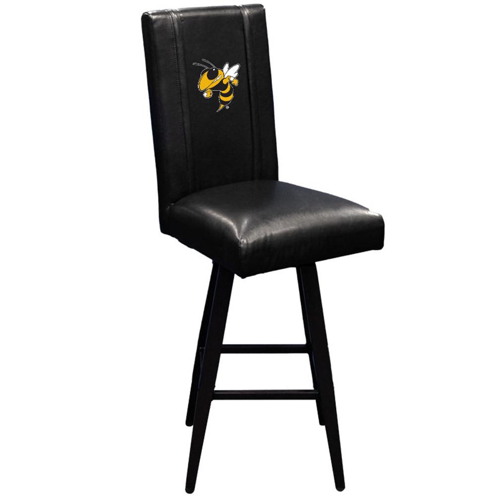 Georgia Tech Yellow Jackets Bar Stool Swivel 2000 |  Dreamseat |XZ2000BSSBLK-PSCOL12081