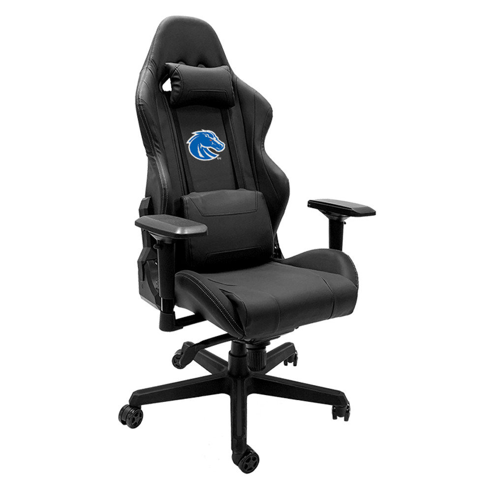 Boise State Broncos Logo Xpression Gaming Chair   Dreamseat  XZGCXPSNBLK-PSCOL11001