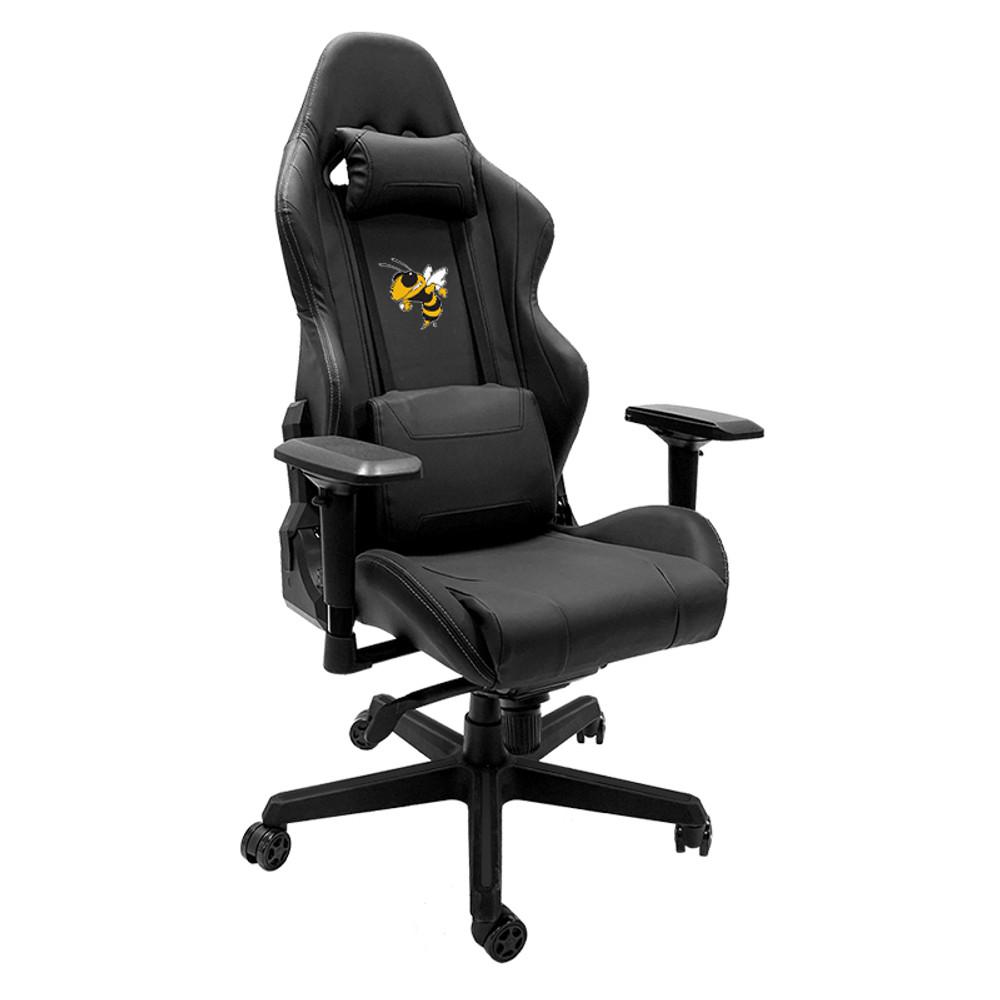 Georgia Tech Yellow Jackets with Buzz Logo Xpression Gaming Chair | Dreamseat |XZGCXPSNBLK-PSCOL12081