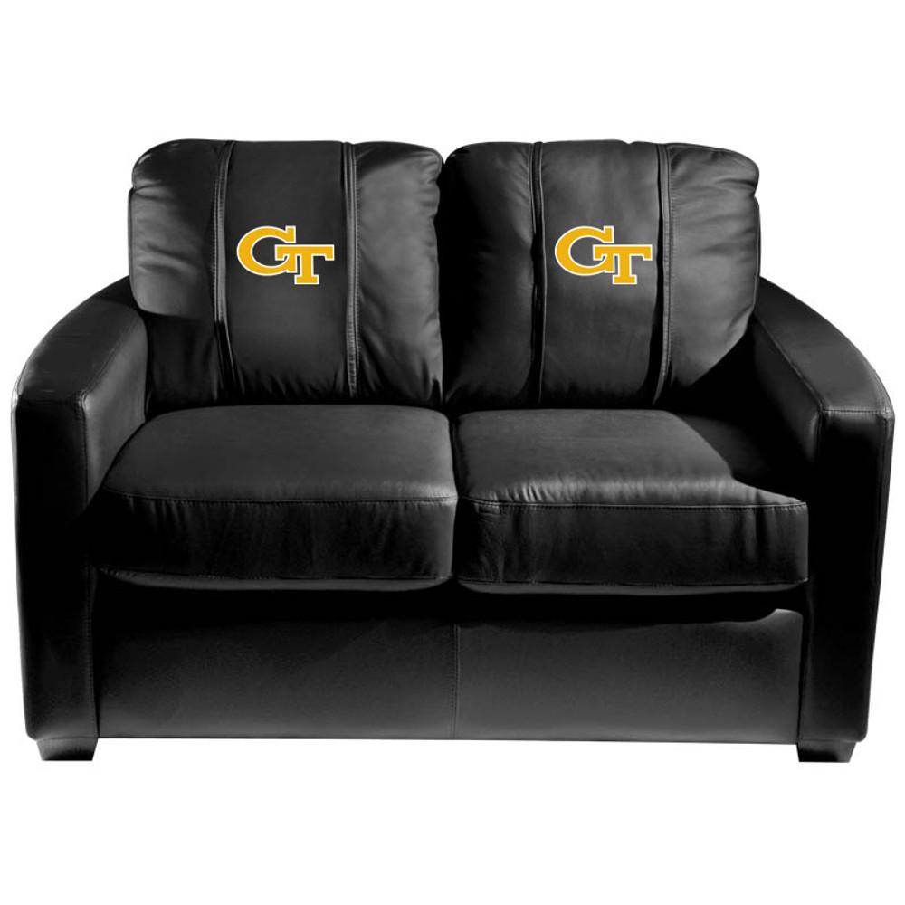 Georgia Tech Yellow Jackets  Silver Love Seat with Block GT logo   Dreamseat   XZ7759003LSCDBK-PSCOL12082