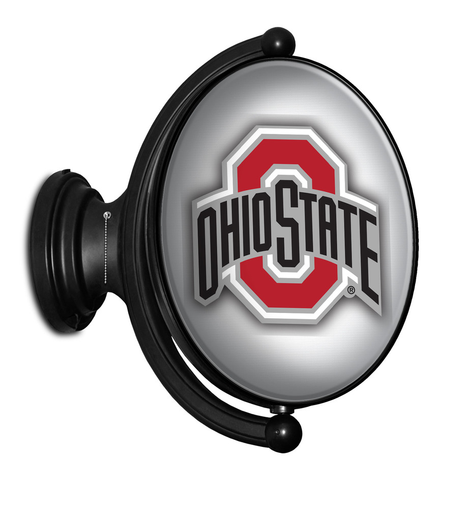 Ohio State Buckeyes Rotating Illuminated LED Team Spirit Wall Sign-Oval-Bubble--Brutis | Grimm Industries |OS-125-01