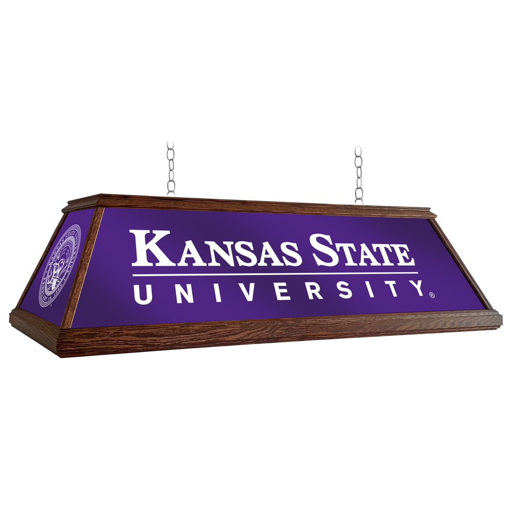 Kansas State Wildcats 49 inch Premium Deluxe Wood Pool Table Light--Institution Logos   Grimm Industries  KS-330-01