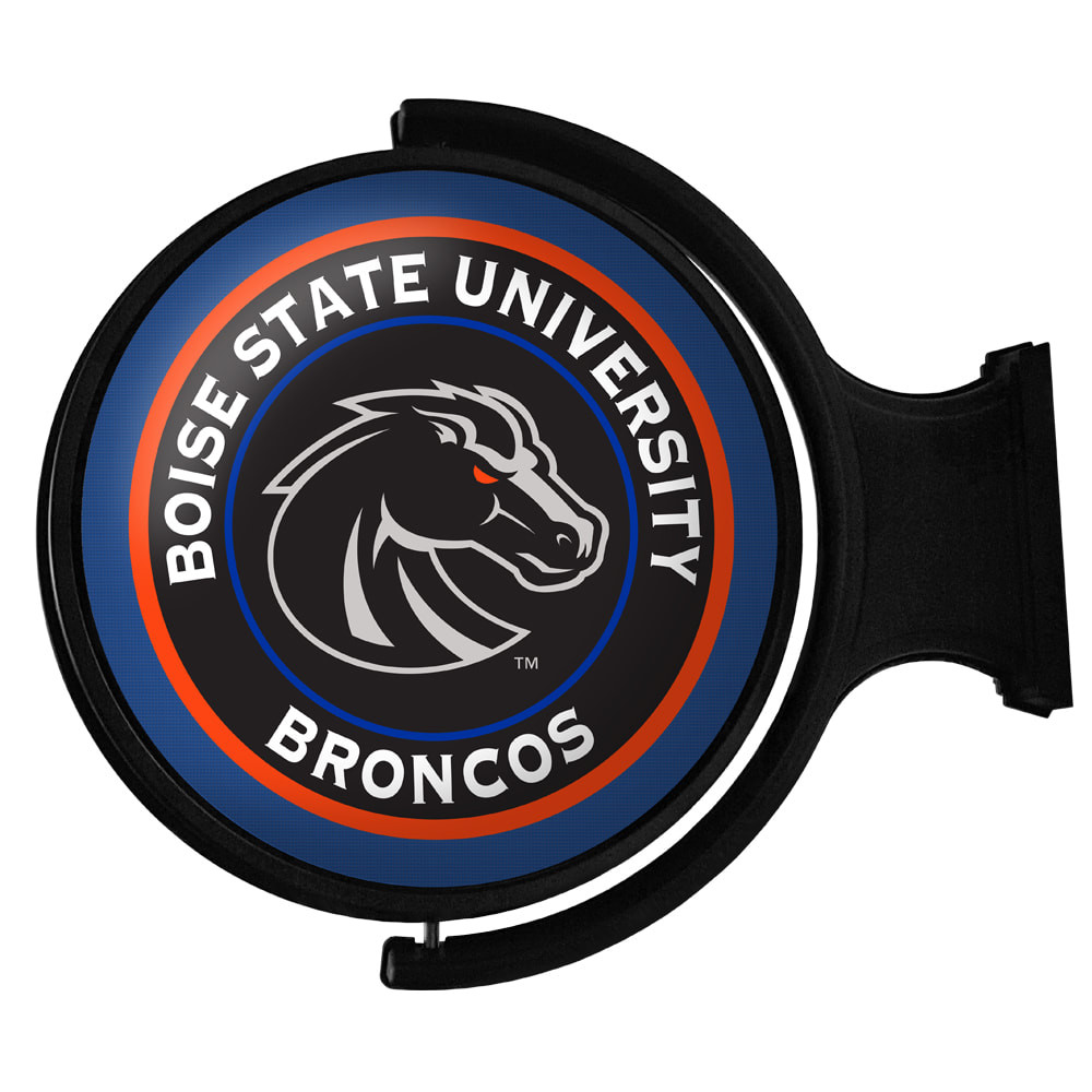 Boise State Broncos Rotating Illuminated LED Team Spirit Wall Sign-Primary Logo-Black | Grimm Industries |BS-115-03