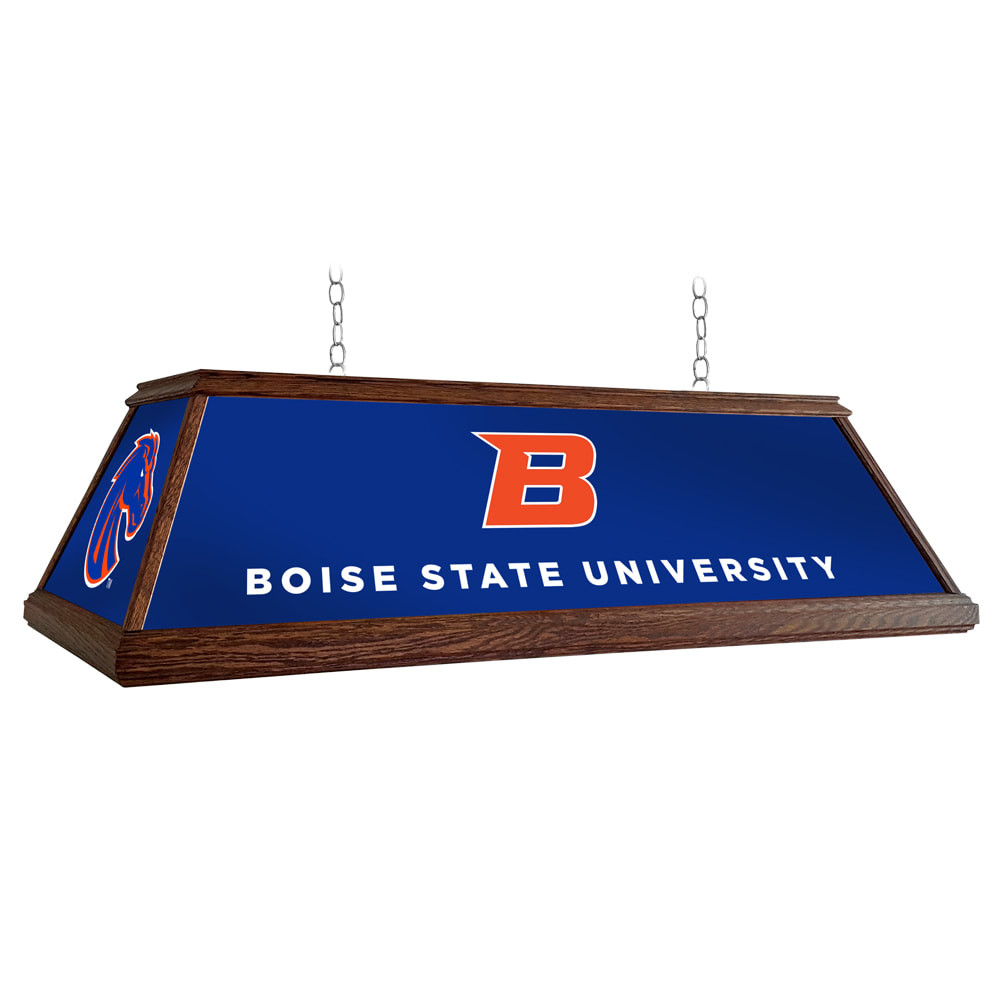 Boise State Broncos 49 inch Premium Deluxe Wood Pool Table Light-Institution Logos | Grimm Industries |BS-330-01