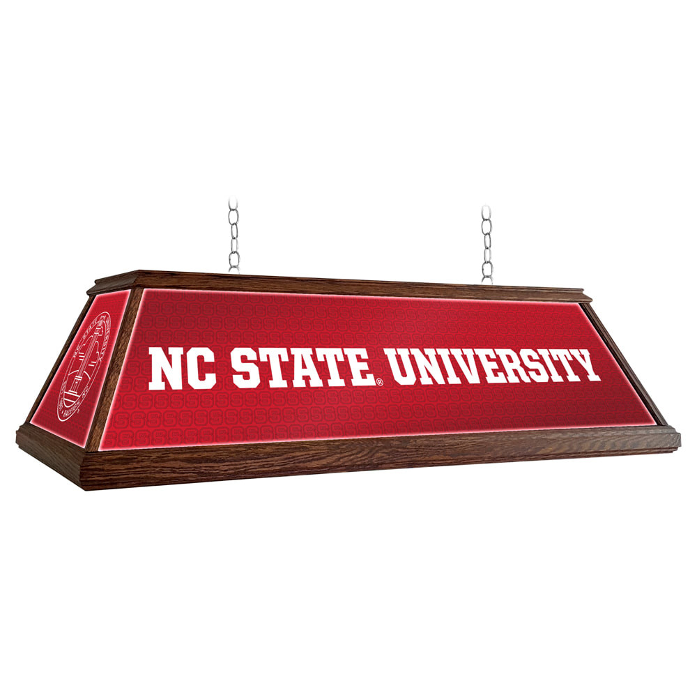 NC State Wolfpack 49 inch Premium Deluxe Wood Pool Table Light-Institution Logos | Grimm Industries |NC-330-01
