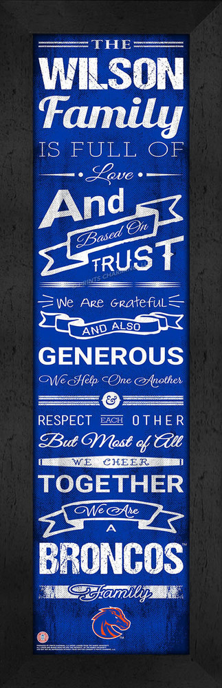 Boise State Broncos Personalized Family Cheer Print | Get Letter Art | CCHL1B06BSUN