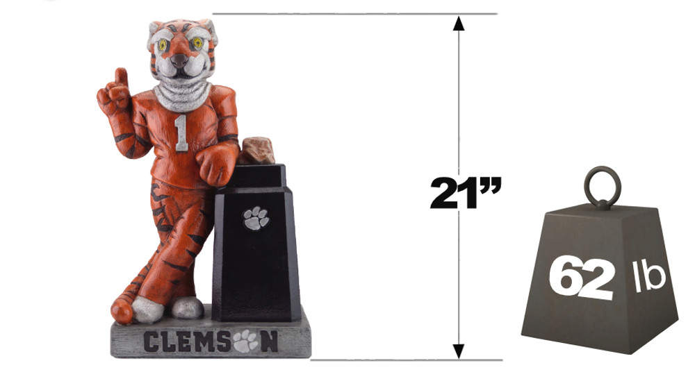Clemson Tigers Mascot Garden Statue | Stonecasters | 2942