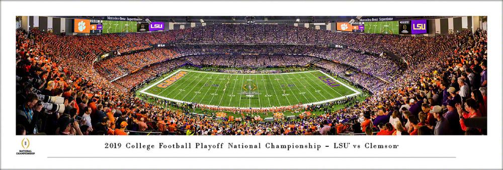 LSU Tigers Panoramic National Championship Kickoff Photo Print   Blakeway   CFPK20