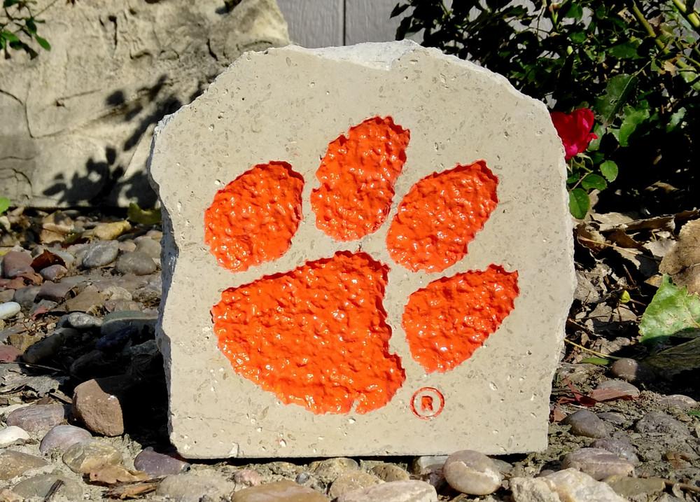 Clemson Tigers Decorative Stone 5.5| Stoneworx | clem7