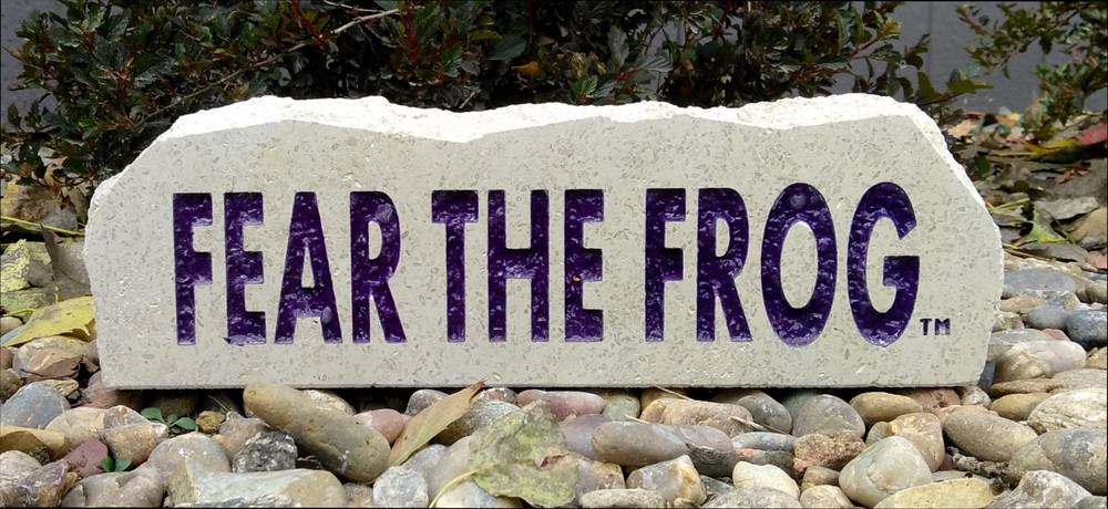 TCU Horned Frogs Decorative Stone Long| Stoneworx | TCU19