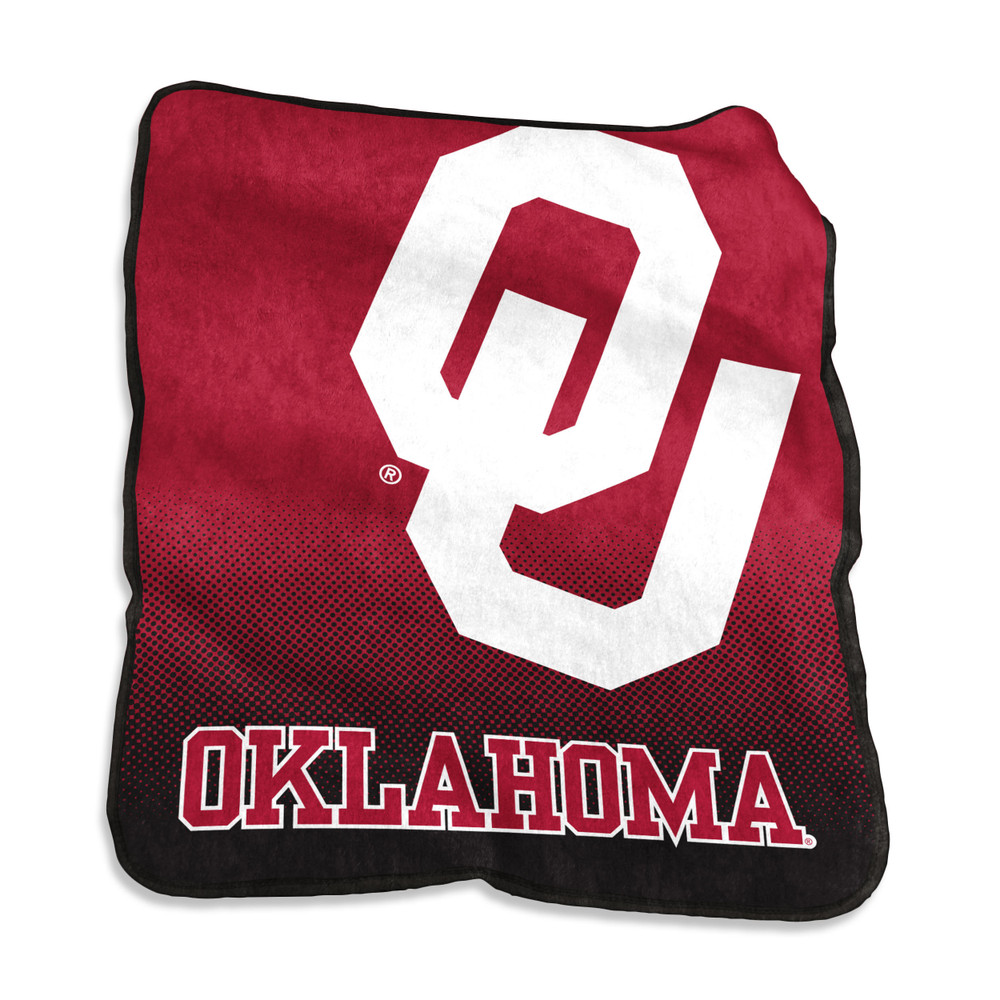 Oklahoma Sooners Raschel Throw Blanket   Logo Chair   192-26A