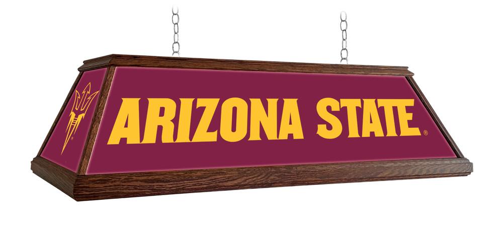 "Arizona State Sun Devils 49"" Premium Deluxe Wood Pool Table Light Maroon | Grimm Industries |AS-330-01"