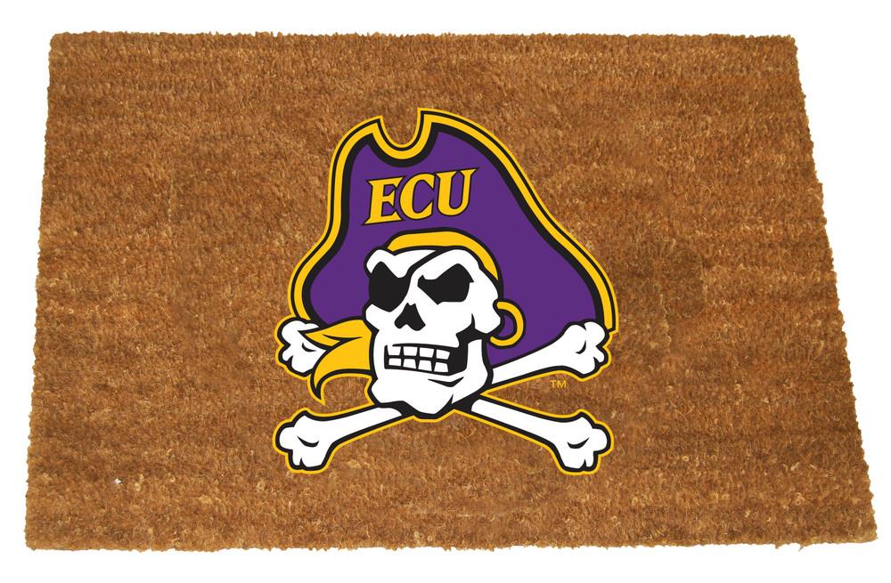 East Carolina Pirates Logo Door Mat   Memory Company   ECU-1689