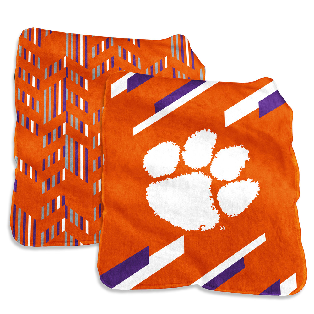 Clemson Tigers Super Plush Blanket  | Logo Chair | 123-27S-1