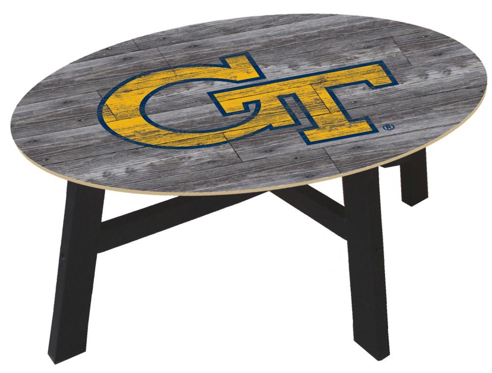 Georgia Tech Yellow Jackets Distressed Wood Coffee Table |FAN CREATIONS | C0811-Georgia Tech