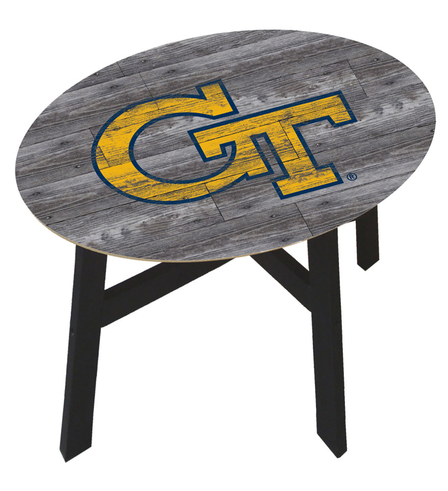 Georgia Tech Yellow Jackets Distressed Wood Side Table |FAN CREATIONS | C0823-Georgia Tech
