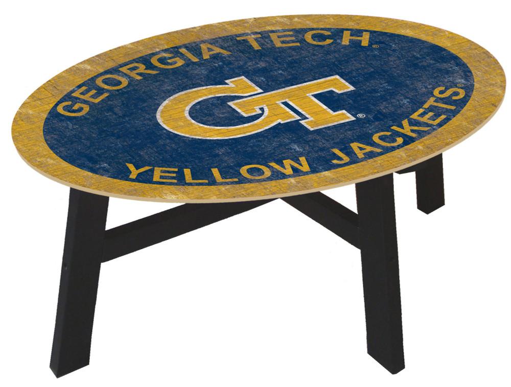 Georgia Tech Yellow Jackets Team Color Coffee Table |FAN CREATIONS | C0813-Georgia Tech