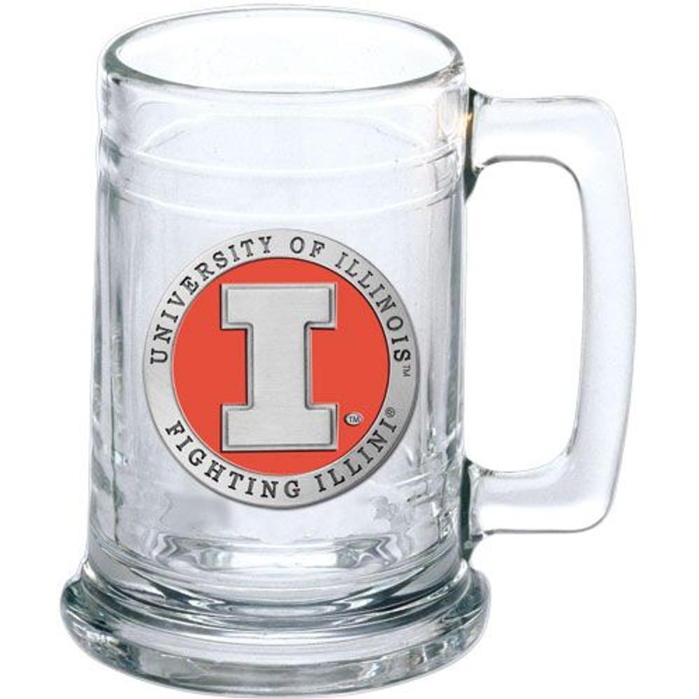 Illinois Fighting Illini Beer Mug Set of Two | Heritage Pewter | ST10269EO