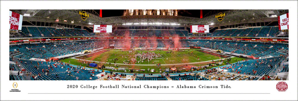 Alabama Crimson Tide 2020 National Champions Panoramic Photo Print | Blakeway | CFPC21UALU