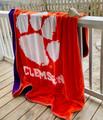 NC State Wolfpack Plush Reversible Blanket   Dormitory 101   CLEM6080REV203