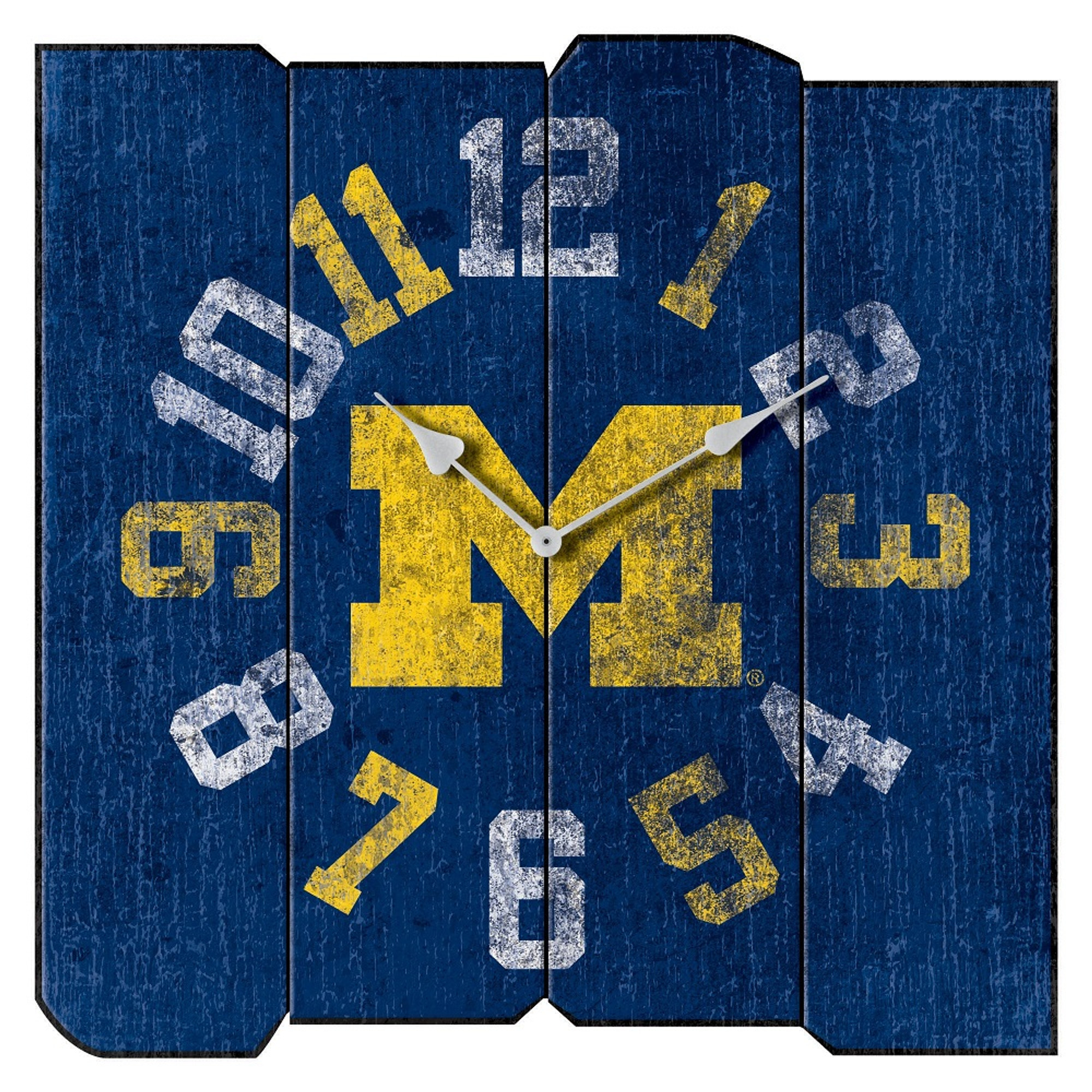 Michigan Wolverines Vintage Square Wall Clock