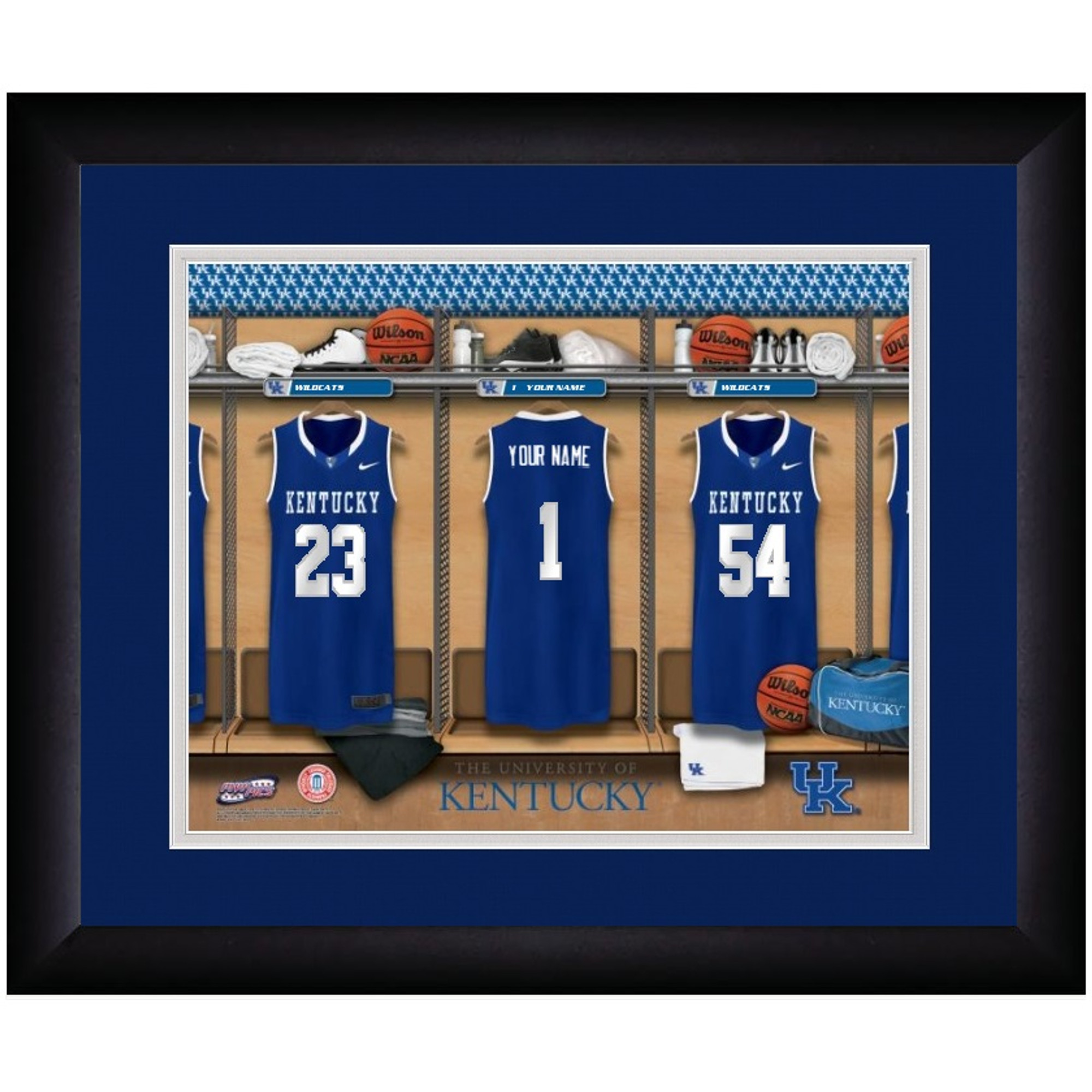 Kentucky Wildcats Campus Personalized Locker Room Print