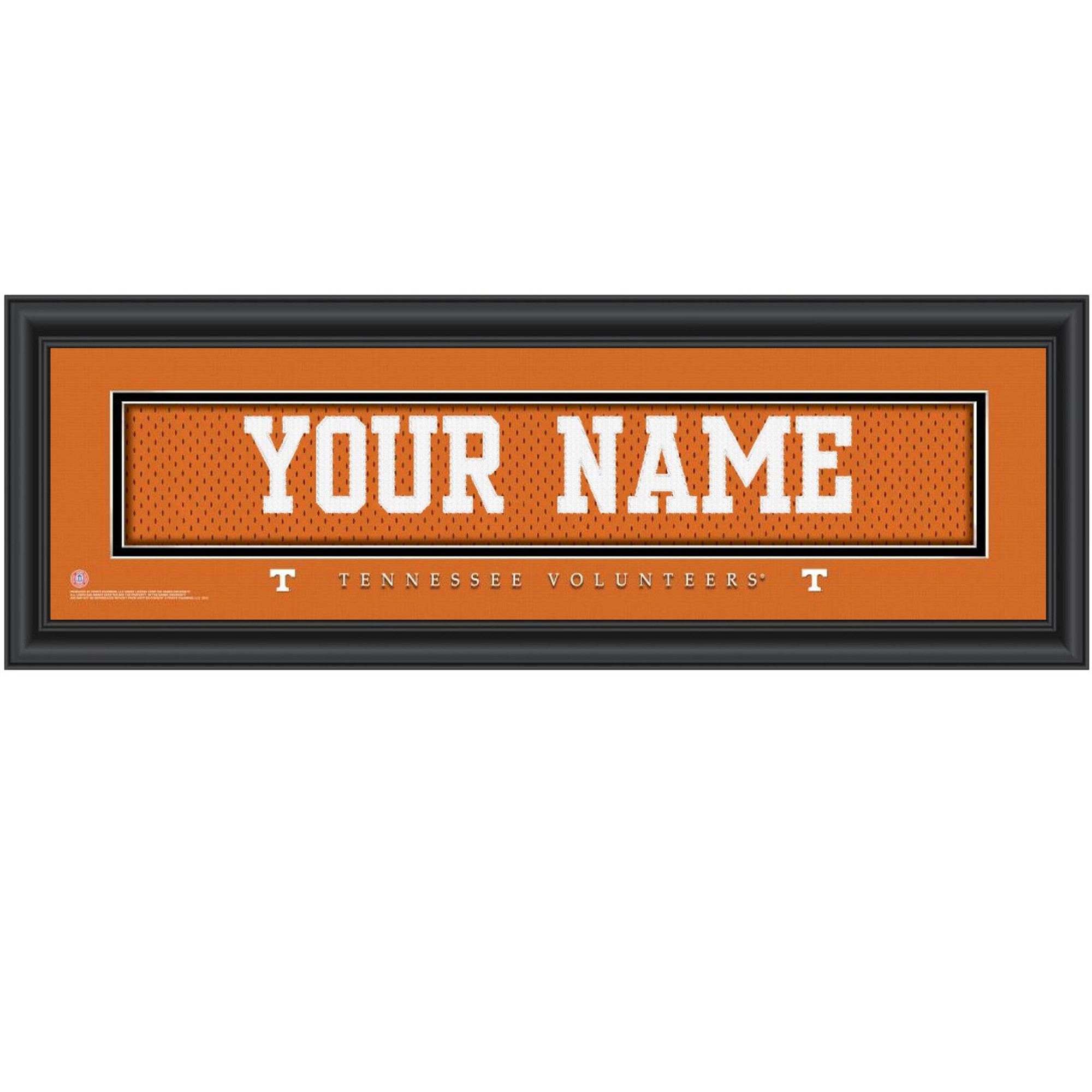 73a9c5e82f3 Tennessee Volunteers Personalized Jersey Stitch Print