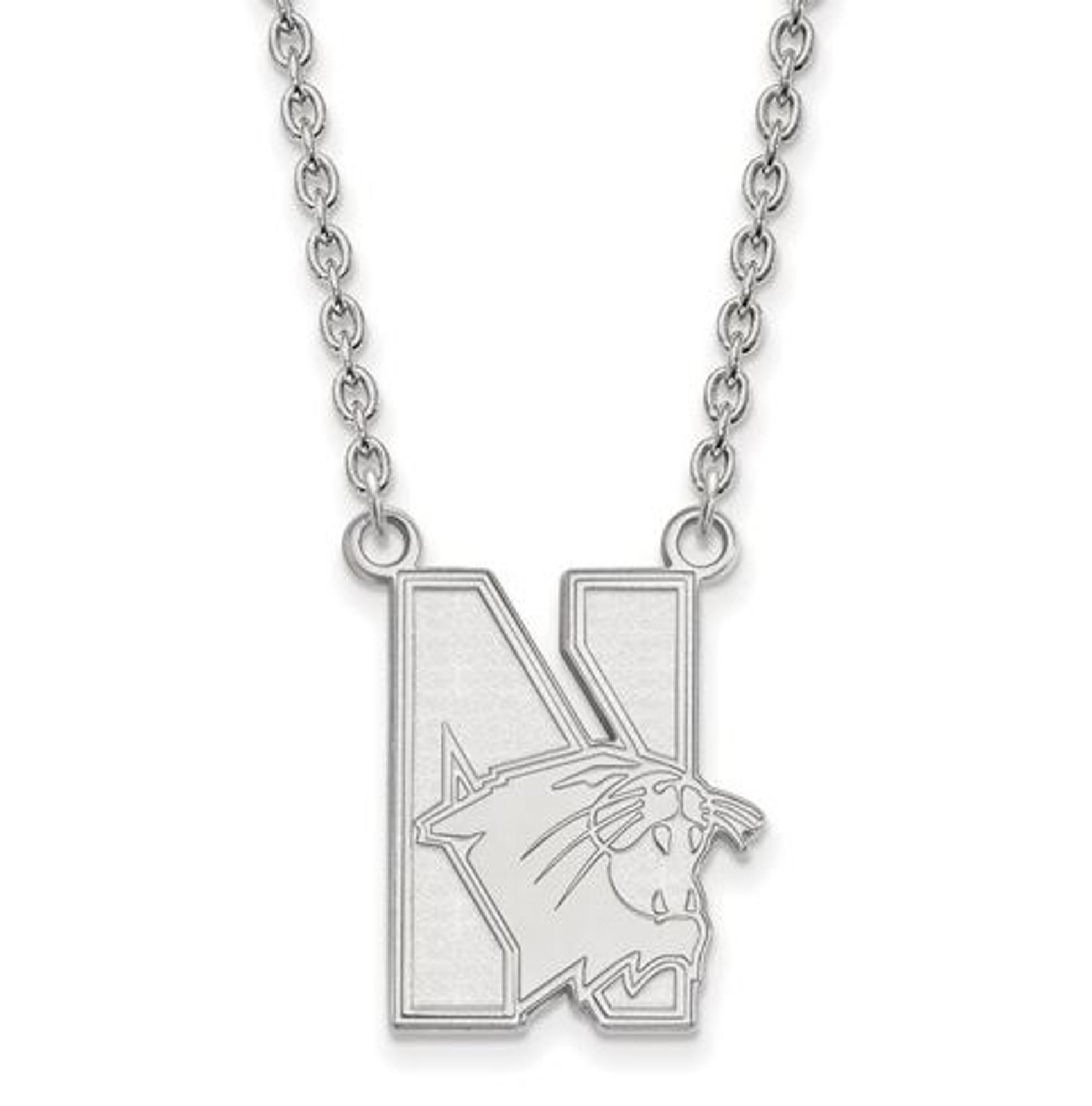 Sterling S Sterling Silver Rhodium Plated LogoArt University of Arkansas Medium Enamel Pendant