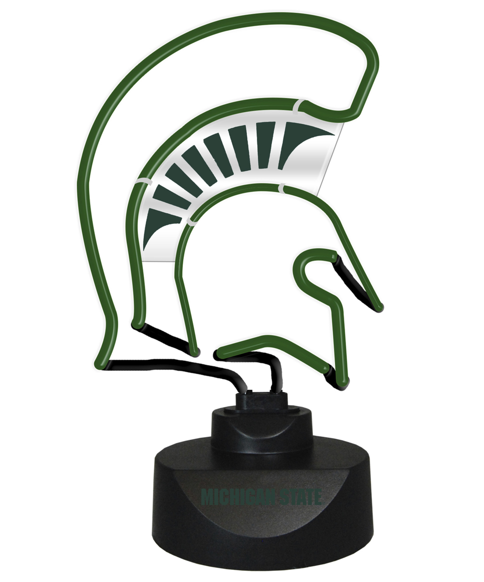Pleasant Msu Spartans Neon Desk Lamp Home Interior And Landscaping Palasignezvosmurscom