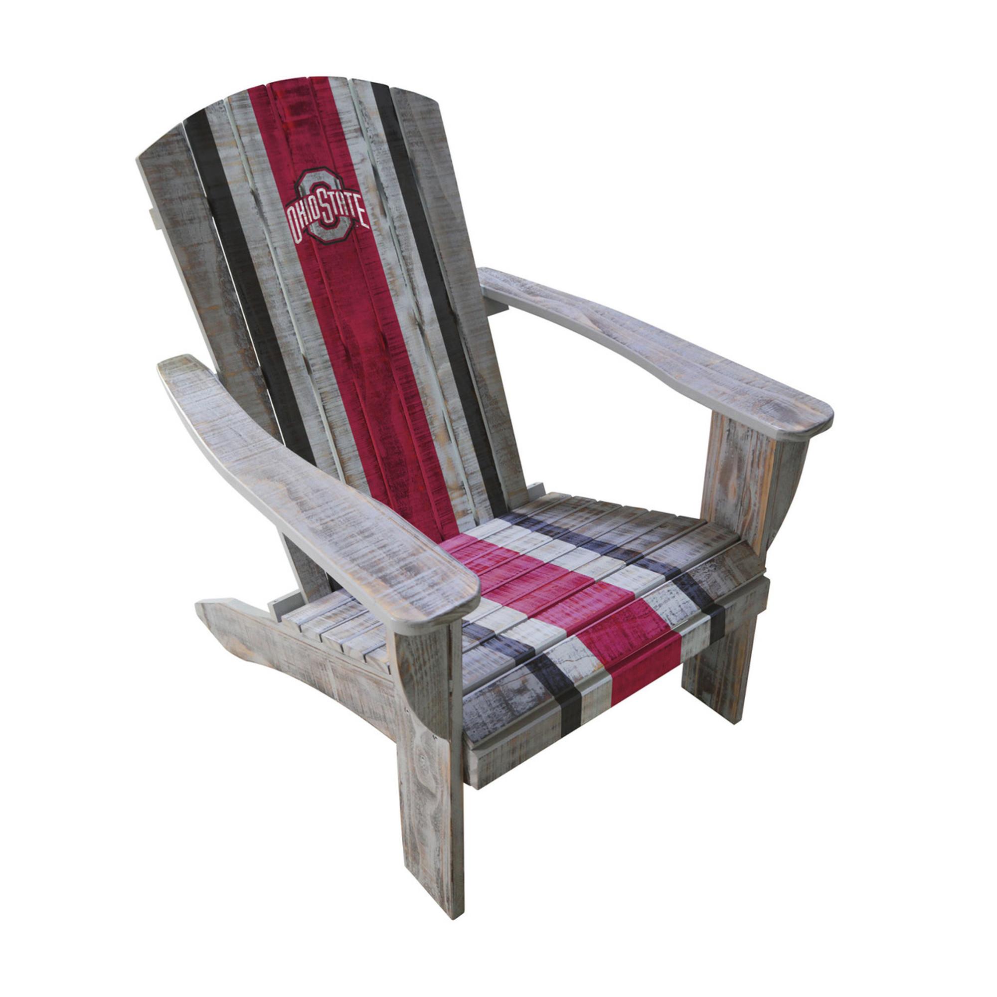 Ohio State Buckeyes Wooden Adirondack Chair | Imperial International | 711-7015  sc 1 st  College Logo Stuff & Ohio State Buckeyes Wooden Adirondack Chair