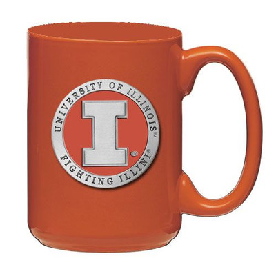 Illinois Fighting Illini Coffee Mug Set of 2 | Heritage Pewter | CM10269EONG