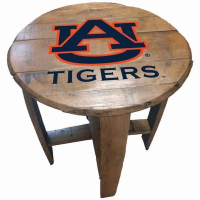 "Auburn Tigers 21"" Barrel Team Logo Table   GREENSTONES   BTT-AUB-01"