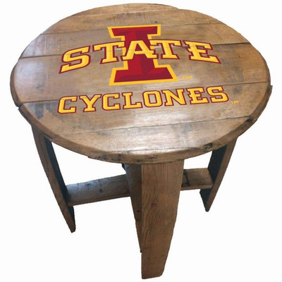 "Iowa State Cyclones 21"" Barrel Team Logo Table | GREENSTONES | BTT-IAST-01"