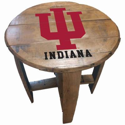 "Indiana Hoosiers 21"" Barrel Team Logo Table   GREENSTONES   BTT-IND-01"