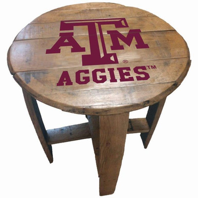 "Texas A&M Aggies 21"" Barrel Team Logo Table | GREENSTONES | BTT-TXAM-01"