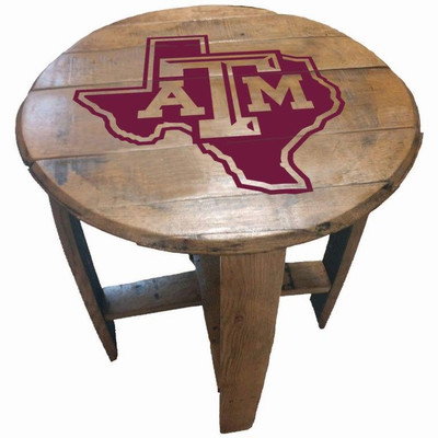 "Texas A&M Aggies 21"" Barrel Team Logo Table logo | GREENSTONES | BTT-TXAM-02"