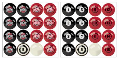 Ohio State Buckeyes Pool Ball Set | Imperial International | IMP  626-3015