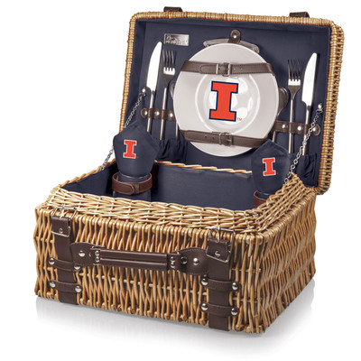 Illinois Fighting Illini Champion Picnic Basket | Picnic Time | 208-40-138-214-0