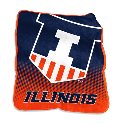 Illinois Fighting Illini Raschel Throw Blanket | Logo Chair | 151-26A