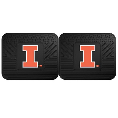Illinois Fighting Illini Utility Car Mats Set of Two | Fanmats | 12281