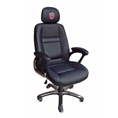Indiana Hoosiers Leather Office Chair | Wild Sports | 901C-IND