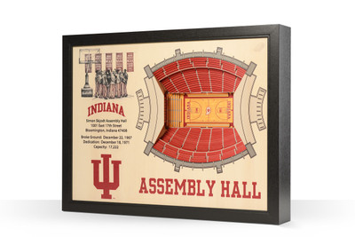 Indiana Hoosiers Framed 3-D Stadium Art | Stadium Views | 9022336
