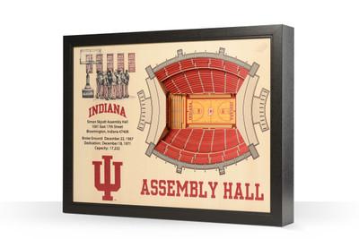 Indiana Hoosiers Framed 3-D Stadium Art | Stadium Views | 9022336