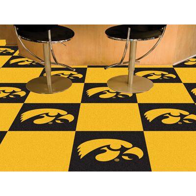 Iowa Hawkeyes Carpet Tiles | Fanmats | 8528