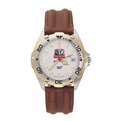 Alabama Crimson Tide Men's All Star Leather Watch | Logo Art | UAL101