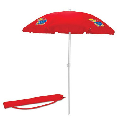Kansas Jayhawks Beach Umbrella | Picnic Time | 822-00-100-244-0