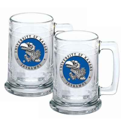 Kansas Jayhawks Beer Mug Set of Two | Heritage Pewter | ST10184EB