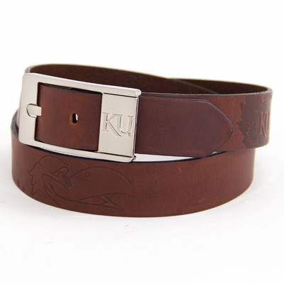 Kansas Jayhawks Brandish Brown Belt | Eagles Wings | 9276-