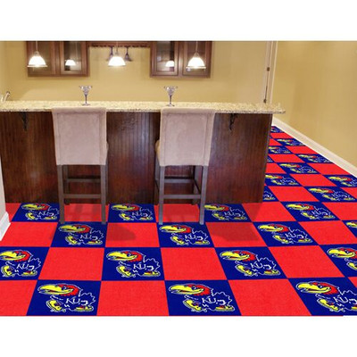 Kansas Jayhawks Carpet Tiles | Fanmats | 8517